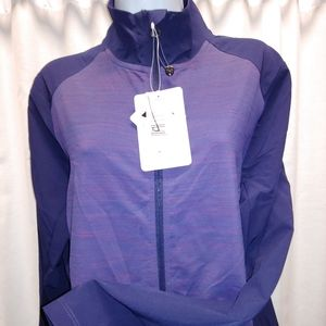 NEW purple zip up jacket Medium